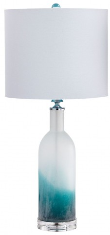 Turquoise and Clear Lighting CFL Table Lamp