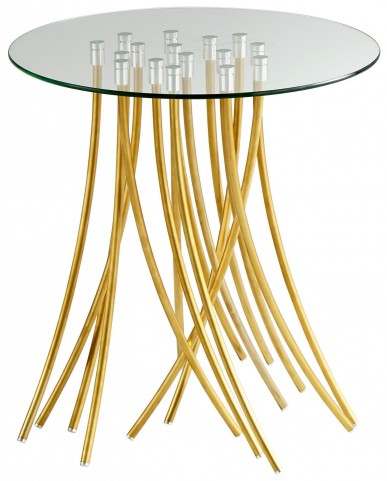 Tuffoli Satin Gold Table