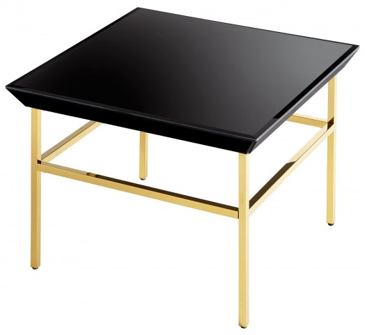 Calzada Satin Gold Side Table