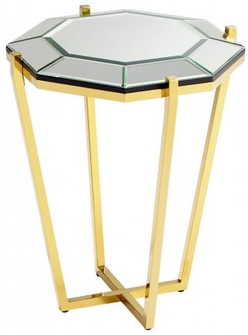 Elara Brass Side Table