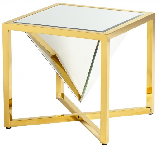Titan Brass Side Table