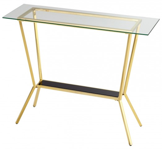 Arabella Brass Console Table