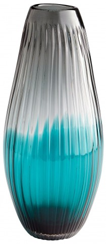 Serenity Clear Blue Sleek Vase