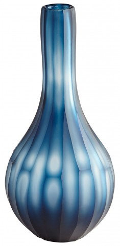 Small Blue Tulip Vase