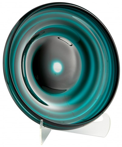 Medium Teal Vertigo Plate