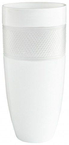 Medium White Calypso Vase