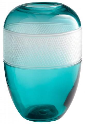 Medium Blue Calypso Vase