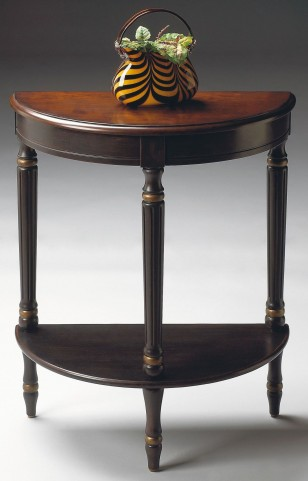 Bellini Cafe Noir Demilune Console End Table