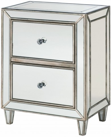 Hidden Treasures 2 Drawer Small Mirrored Cabinet