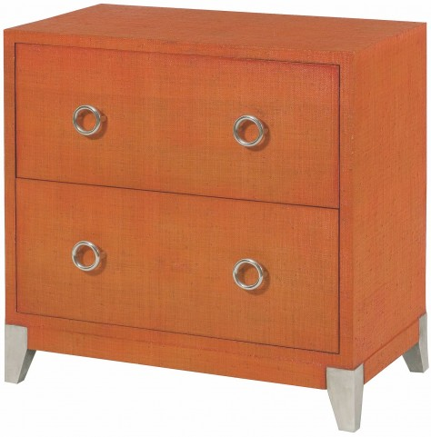 Hidden Treasures Orange 4 Drawer Accent Chest