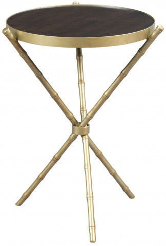 Hidden Treasures Metal Bamboo Table