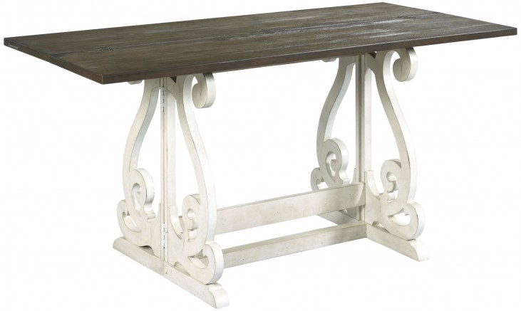 Hidden Treasures Rustic Gray And Antique White Gateleg Table