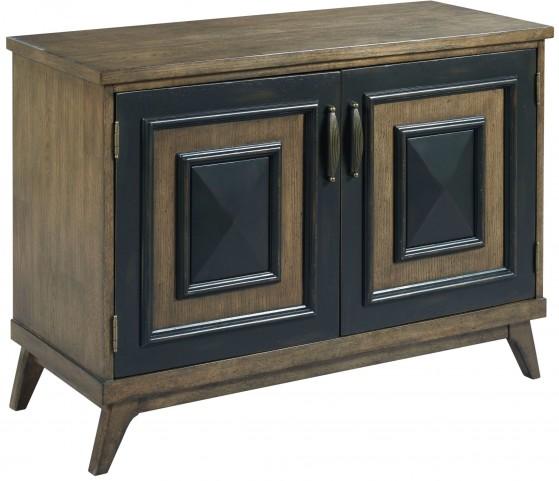 Hidden Treasures Antique Oak & Black Hall Cabinet