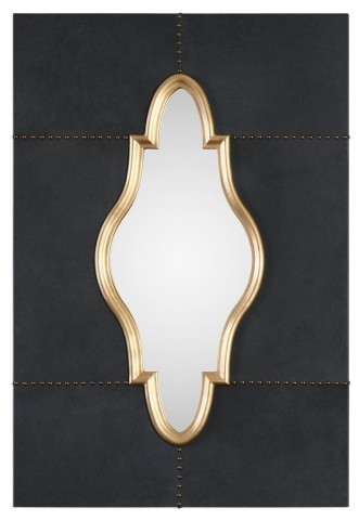 Kamal Black Leather Mirror