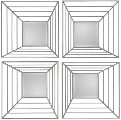 Denain Square Mirrors Set of 4