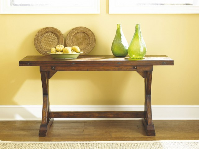 Hidden Treasures Rustic Flip Top Console Table