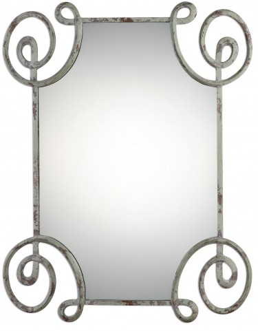 Rennes Distressed Iron Mirror