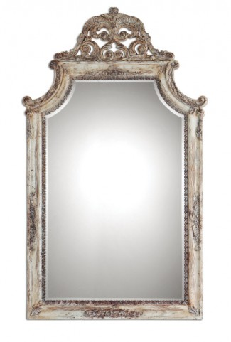 Portici Antique Ivory Mirror