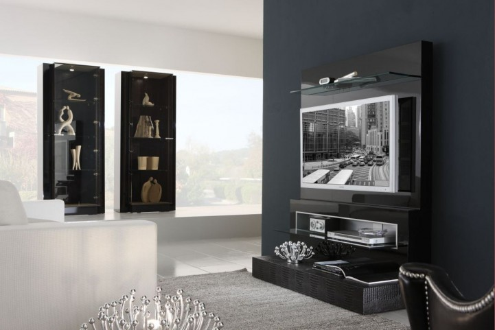 Diamond Black TV Unit