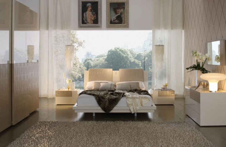 Diamond Ivory Bedroom Set