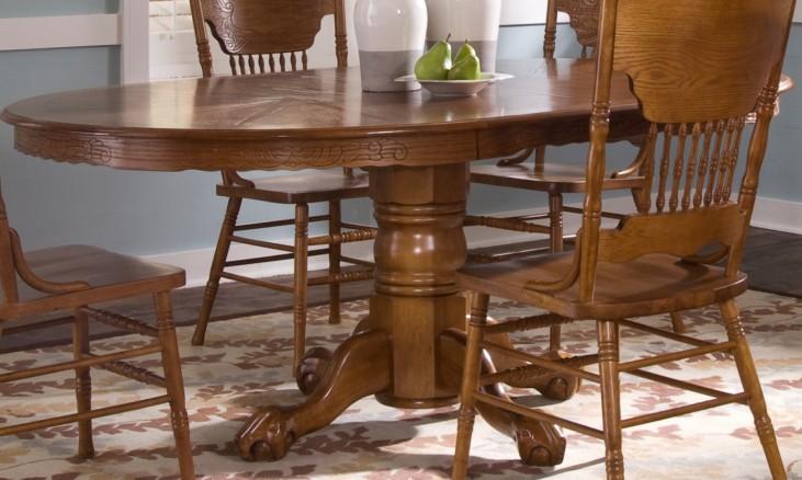 Nostalgia Oval Pedestal Dining Table