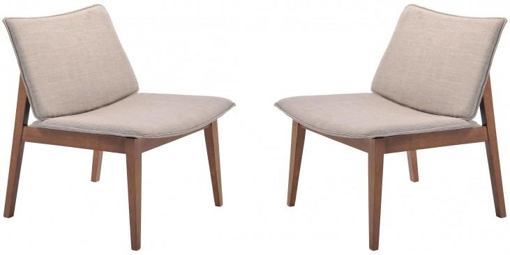 Little Havana Dove Gray Occasional Chair Set of 2