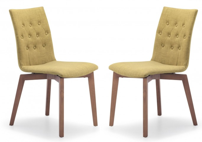 Orebro Pea Fabric Chair Set of 2
