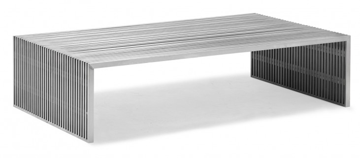 Novel Long Coffee Table Stainless Steel