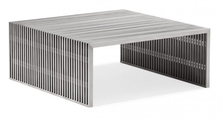 Novel Square Coffee Table Stainless Steel