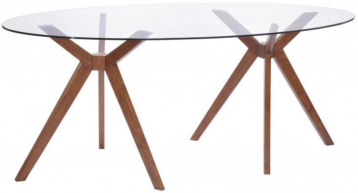 Buena Vista Walnut Oval Dining Table