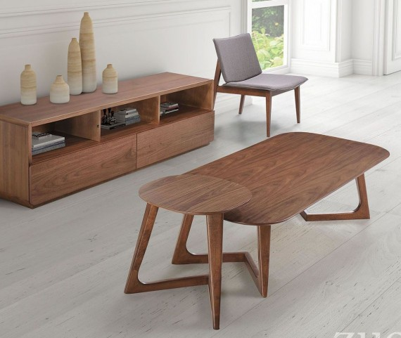 Park West Walnut Occasional Table Set