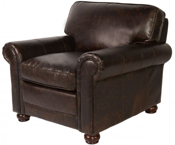 Genesis Brompton Chocolate Leather Chair