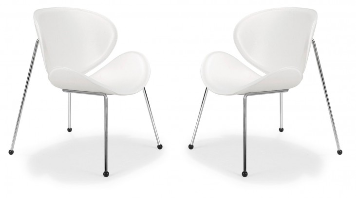 Match Lounge Chair White Set of 2