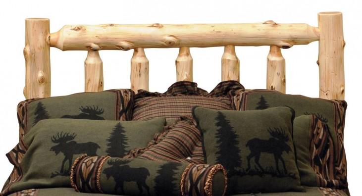 Cedar King Log Headboard