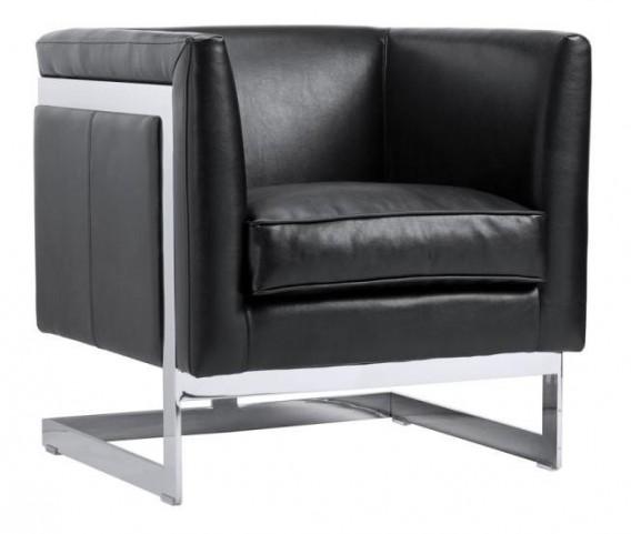 Soho Black Leather Armchair