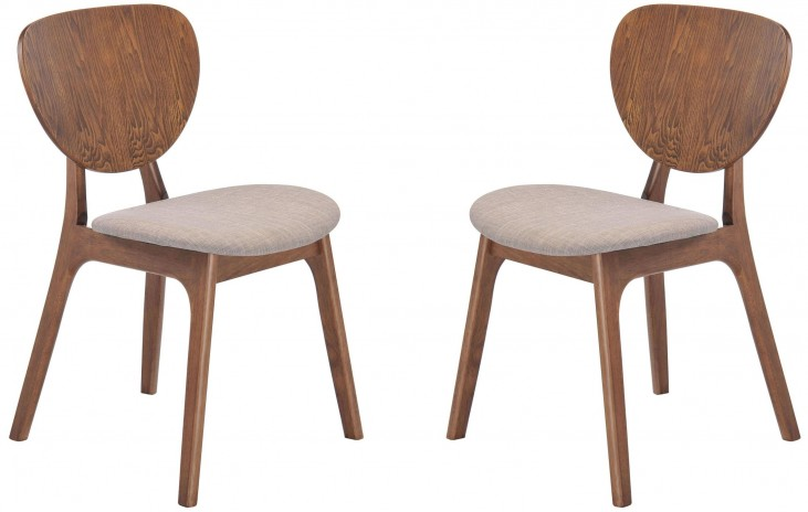Overton Dove Gray Dining Chair Set of 2