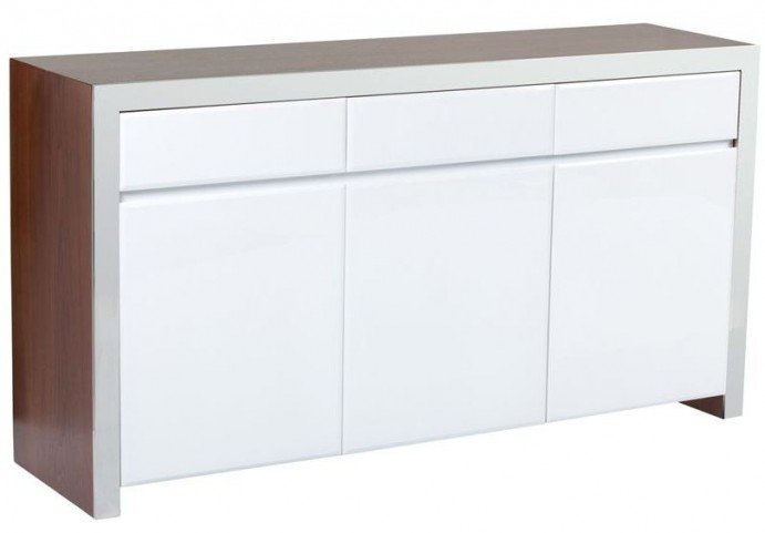Lauderdale High Gloss White Sideboard