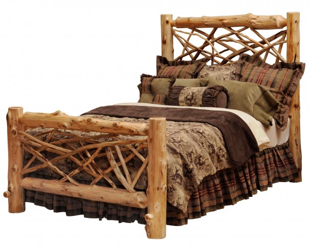 Traditional Cedar King Twig Bed