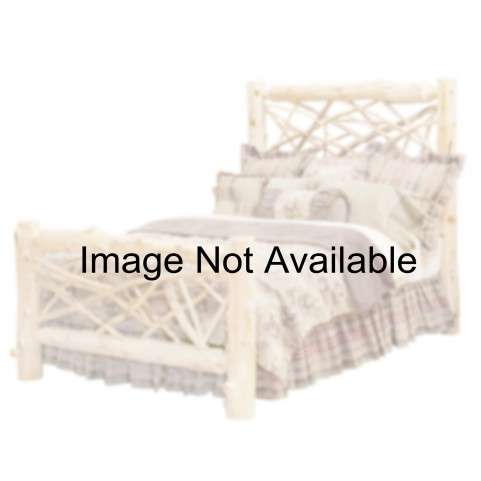 Hickory Queen Adirondack Bed with Rustic Alder Rails