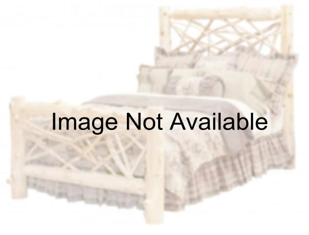 Vintage Cedar King Twig Platform Bed