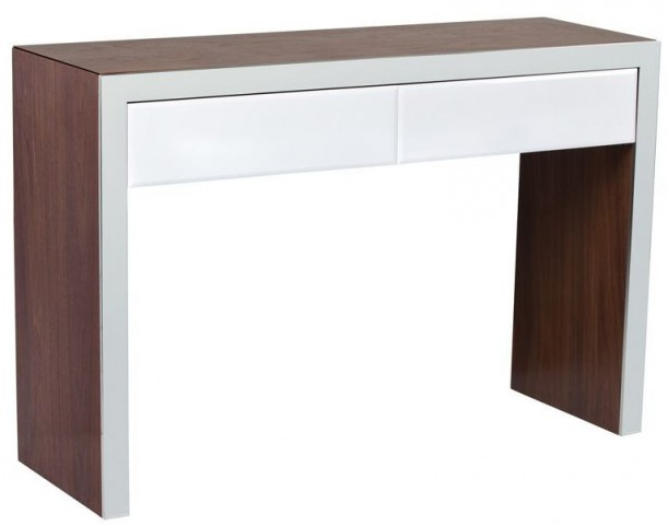 Lauderdale High Gloss White Console Table