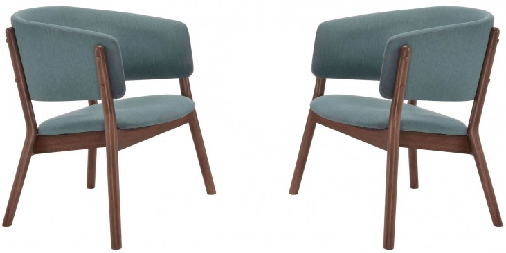 Chapel Blue Lounge Chair Set of 2