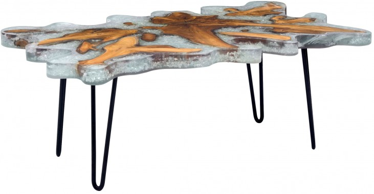 Jigsaw Natural Rectangular Coffee Table