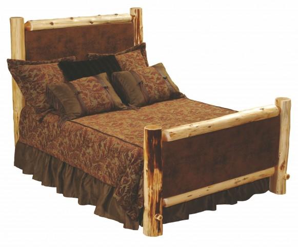 Cedar Full Leather Upholstered Bed