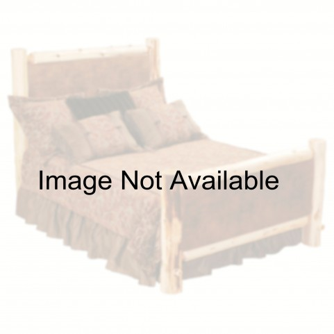 Vintage Cedar King Leather Upholstered Platform Bed