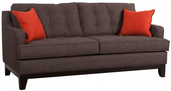 Chicago Burnt Orange & Charcoal Sofa