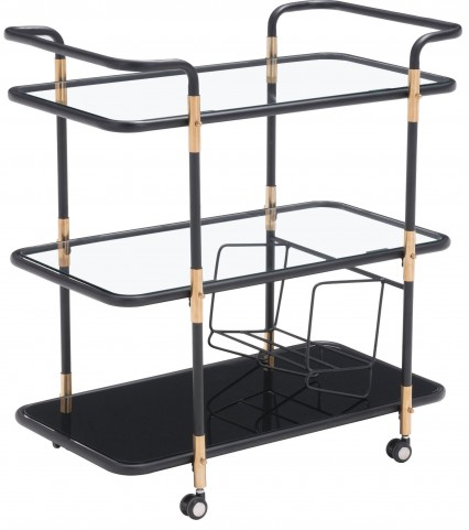 Secret Black & Gold Serving Cart