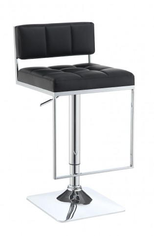 100194 Black Adjustable Bar Stool