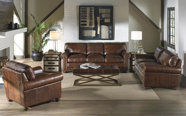 Genesis Coco Brompton Leather Living Room Set
