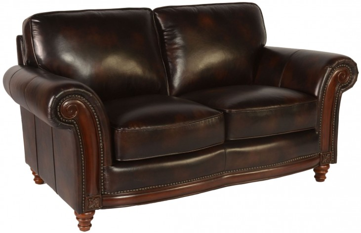 Century Toberlone Leather Loveseat